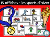 Affiches pour les 15 sports officiels des JEUX D'HIVER (French - FSL)