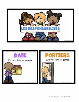 Affiches pour les responsabilités de la classe - French Classroom Jobs
