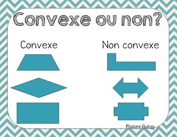 Affiches quadrilatères, convexe, angles et droites