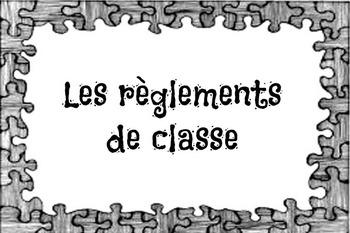 Affiches: règlements de classe