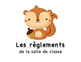 Affiches règlements de classe / French Posters Classroom Rules