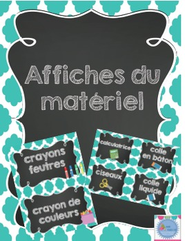 Affiches référentiel pour le matériel et outils /French classroom posters