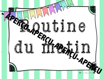 Affiches routine du matin - French Morning Routine Posters