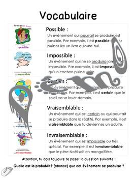 Affiches sur la PROBABILITÉ et vocabulaire