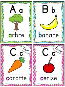 French alphabet - Affiches