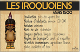 Affiches sur les iroquoiens vers 1500