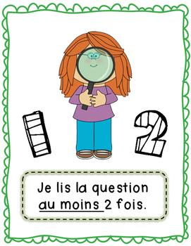 Affiches-Étapes de résolution de problèmes - primaire (math)