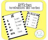 Affiches terminaisons des verbes