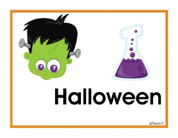 Affiches - vocabulaire de l'Halloween
