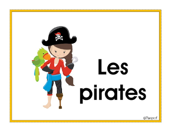 Affiches - vocabulaire des pirates