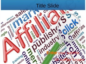 Affiliate Marketing PPT Template