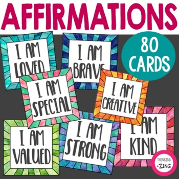 Positive Affirmation Cards for Students