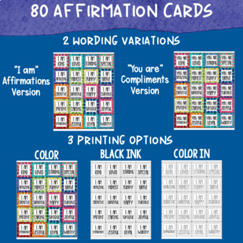 Positive Affirmations and Compliment Cards for Students