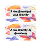 Affirmation Cards self esteem and positivity butterfly background