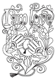 Affirmation Colouring Page