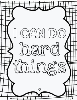 Affirmation/ Growth Mindset Coloring Pages