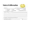 Affirmation Note