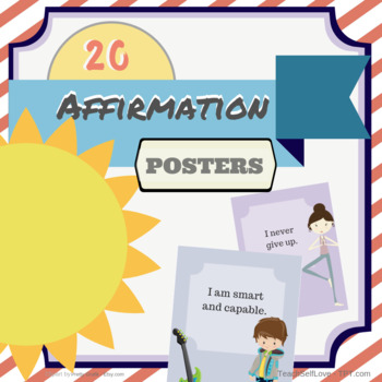 Affirmation Poster Pack - 20 *Full Size* Posters!