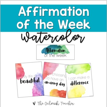 Positive Affirmation Posters & Journal Pages - Watercolor