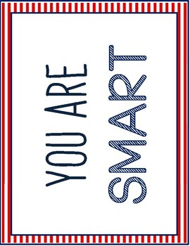 Affirmation Signs Red White and Blue