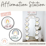 Affirmation Station [Modern Rainbow]   Positive Affirmations - Calm Colors Decor