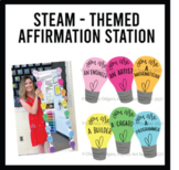 Affirmation Station: STEAM-themed with colorful and calm c