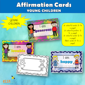 Affirmation cards for young children