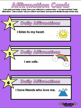 Affirmations for Children Printable Booklet