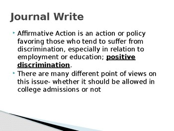 Affirmative Action Close Reading and Analysis Unit