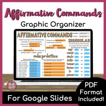 Affirmative Tú Command Graphic Organizer