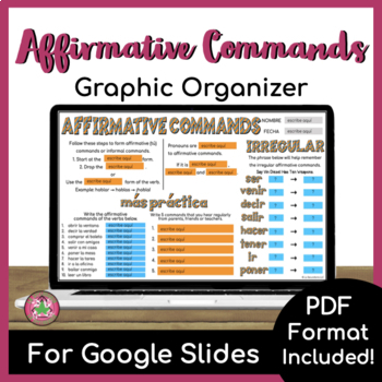 Affirmative Tú Command Graphic Organizer