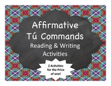 Spanish Grammar:  Affirmative Command Writing Activity