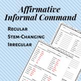 Affirmative Informal Tú Command Worksheet