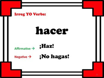 Affirmative & Negative Tú Commands