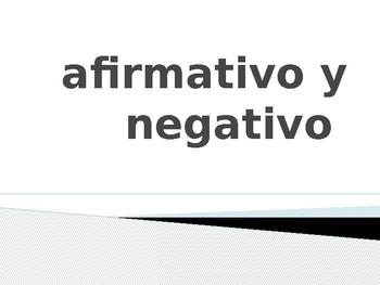 Affirmative & Negative Words