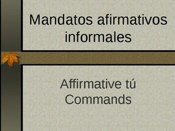 Affirmative Tú Commands / Mandatos Afirmativos Informales Lesson