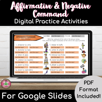 Affirmative and Negative Command Packet
