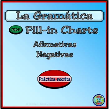 Affirmative and Negative Expressions Fill-in Practice Charts