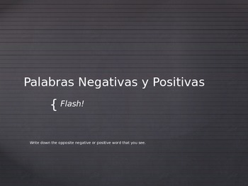 Affirmative and Negative Words Game