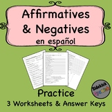 Affirmative and Negative Words in Spanish Practice Worksheets