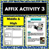 Affix Activity 3