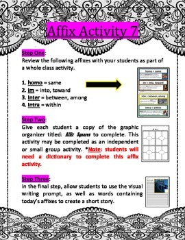 Affix Activity 7