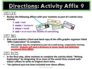 Affix Activity 9