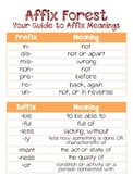 Affix Forest - Teaching 4th Grade Common Core Eligible Prefixes and Suffixes
