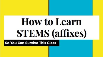 Affix Kit #1-8 ENTIRE SEMESTER'S WORTH OF RESOURCES ***cus
