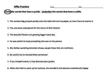 Affix Practice Set
