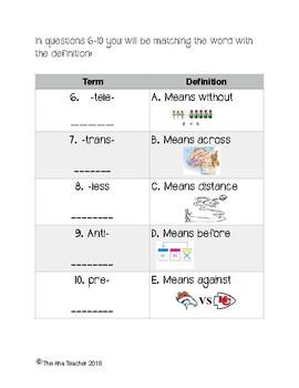 Affix Review Quiz