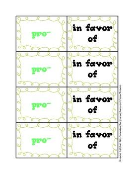 Affix match cards