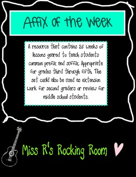 Affix of the Week
