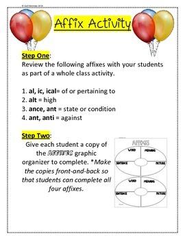 Affixes Activity 1